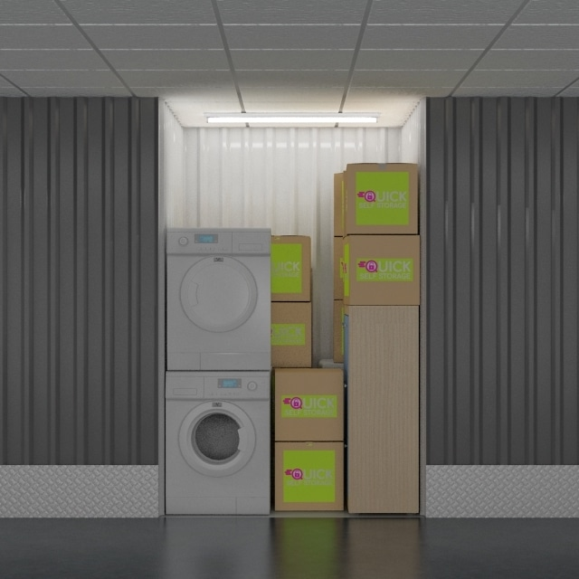 25 sq ft storage room from quick self storage